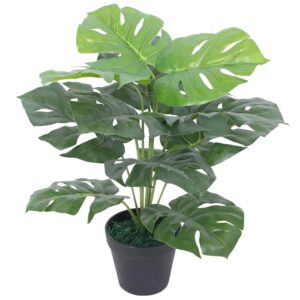vidaXL Artificial Monstera Plant with Pot 45 cm Green