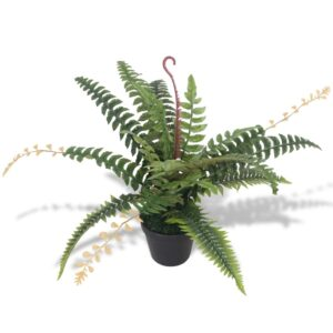 vidaXL Artificial Fern Plant with Pot 50 cm Green