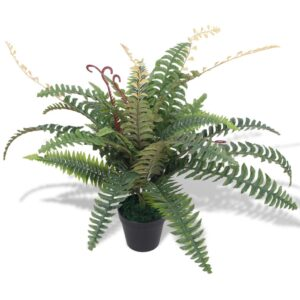 vidaXL Artificial Fern Plant with Pot 60 cm Green