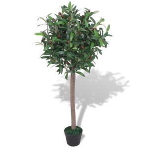 vidaXL Artificial Bay Tree Plant with Pot 120 cm Green