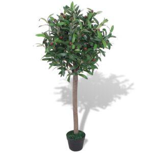 vidaXL Artificial Bay Tree Plant with Pot 120 cm Green