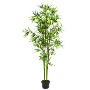 vidaXL Artificial Bamboo Plant with Pot 175 cm Green