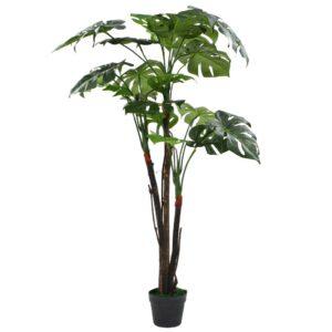 vidaXL Artificial Monstera Plant with Pot 130 cm Green