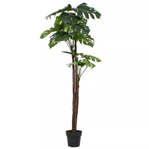 vidaXL Artificial Monstera Plant with Pot 170 cm Green