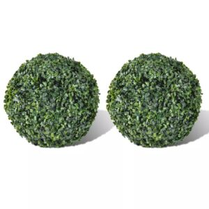 vidaXL Boxwood Ball Artificial Leaf Topiary Ball 27 cm 2 pcs