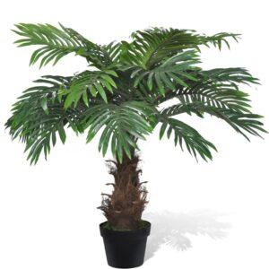 vidaXL Lifelike Artificial Cycus Palm Tree with Pot 80 cm