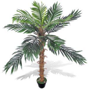 vidaXL Artificial Plant Coconut Palm Tree with Pot 140 cm