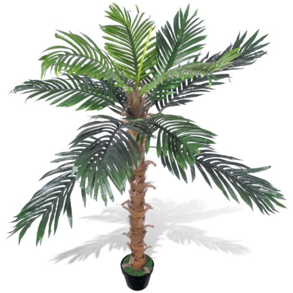 vidaXL Artificial Plant Coconut Palm Tree with Pot 140 cm