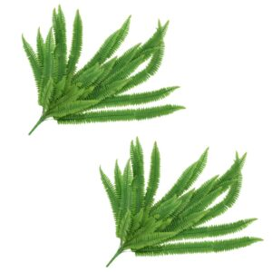 vidaXL Artificial Leaves Fern 2 pcs Green 120 cm