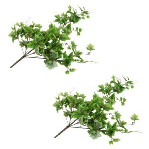 vidaXL Artificial Leaves Grape 2 pcs Green 90 cm