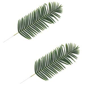 vidaXL Artificial Leaves Palm 2 pcs Green 140 cm