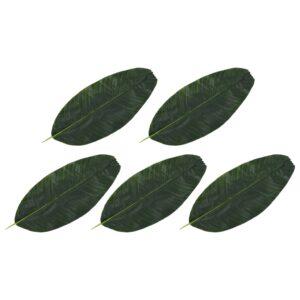 vidaXL Artificial Leaves Banana 5 pcs Green 62 cm