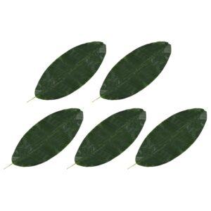 vidaXL Artificial Leaves Banana 5 pcs Green 80 cm
