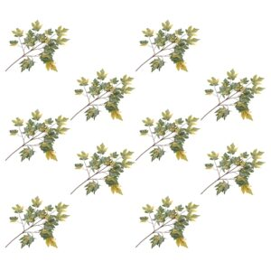 vidaXL Artificial Leaves Maple 10 pcs Green 75 cm