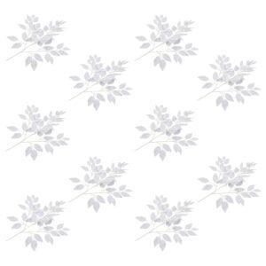 vidaXL Artificial Leaves Ficus 10 pcs White 65 cm