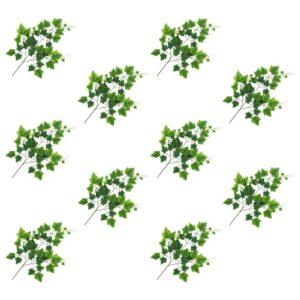 vidaXL Artificial Leaves Grape 10 pcs Green 70 cm
