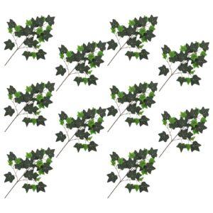 vidaXL Artificial Leaves Ivy 10 pcs Green 70 cm