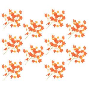 vidaXL Artificial Leaves Ivy 10 pcs Red 70 cm