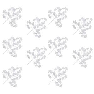vidaXL Artificial Leaves Ginko 10 pcs White 65 cm