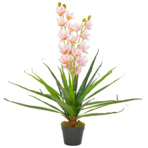 vidaXL Artificial Plant Orchid with Pot Pink 90 cm