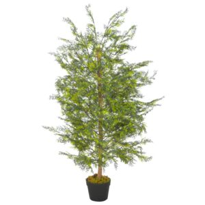 vidaXL Artificial Plant Cypress Tree with Pot Green 120 cm