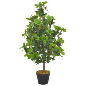 vidaXL Artificial Plant Laurel Tree with Pot Green 90 cm