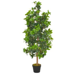 vidaXL Artificial Plant Laurel Tree with Pot Green 120 cm