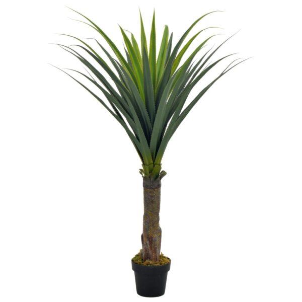 vidaXL Artificial Plant Yucca Tree with Pot Green 145 cm