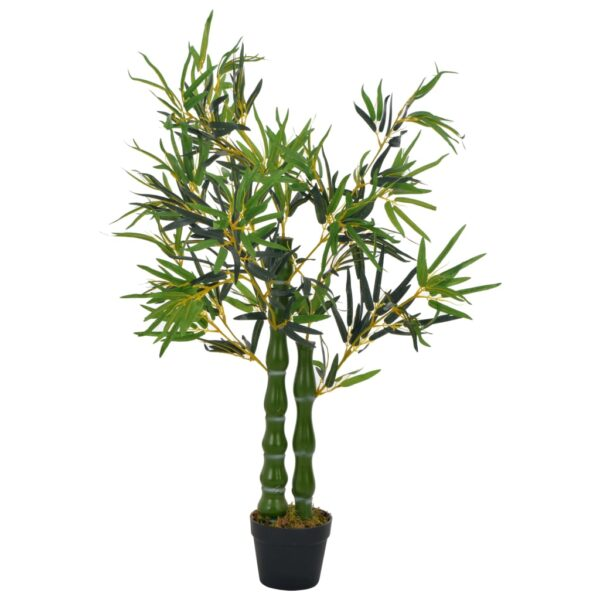 vidaXL Artificial Plant Bamboo with Pot Green 110 cm