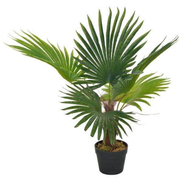 vidaXL Artificial Plant Palm with Pot Green 70 cm