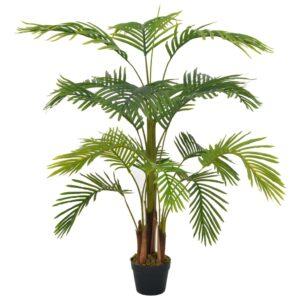 vidaXL Artificial Plant Palm with Pot Green 120 cm