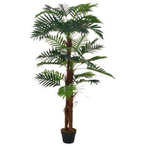 vidaXL Artificial Plant Palm with Pot Green 165 cm