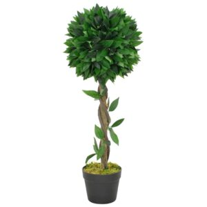 vidaXL Artificial Plant Bay Tree with Pot Green 70 cm
