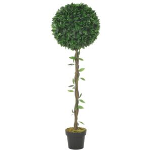 vidaXL Artificial Plant Bay Tree with Pot Green 130 cm