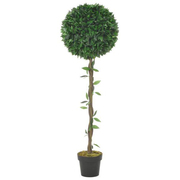 vidaXL Artificial Plant Bay Tree with Pot Green 130 cm