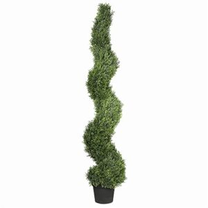 Artificial Cypress Topiary Spiral Tree - 1.5m (5ft) - UV resistant - Indoor/Outdoor Use