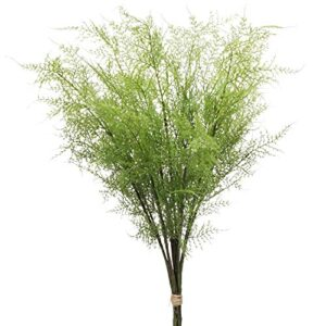 """Artificial Boston Fern Plants Shrubs Greenery Fake Fern Leaves Persian Grass Simulation Fake Bushes for Indoor Home Garden Table Centerpieces Arrangements Decoration 30"""" Long 3 PCS"""
