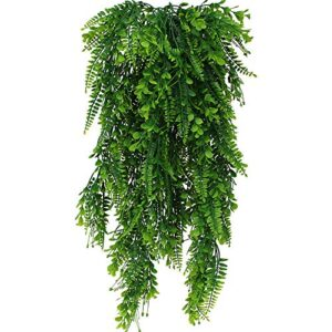 DXLing 2 Pieces 80cm Fake Ferns Plants Artificial Ivy Garland Fake Boston Ferns Persian Rattan Artificial Hanging Plants Faux Plants Artificial Hanging Vines Plants for Wall Wedding Hanging Decoration