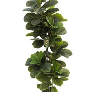 BEGONDIS 1.5M/5-Feet Artificial Fiddle Leaf Fig Tree, Green Fake Plants for Home and Office Decor