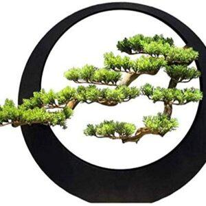 Decoration Desktop,sculpture Artificial Bonsai Tree/Welcome Bonsai Light Artist Home Decoration Zen Decoration Artificial Welcome Pine Iron Bonsai Living Room Porch Club Artificial Plantation Fake