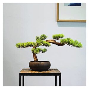 liangzishop Artificial Potted Plants 11 Inches Artificial Bonsai Pine Tree,Realistic Fake Plant Decoration, Potted Artificial House Plants, for Desktop Display, Zen Garden Décor Artificial Tree
