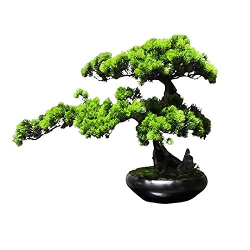 liangzishop Artificial Potted Plants 18 Inches Artificial Bonsai Tree,Plastic Artificial Plant Decoration, Potted Artificial House Plants, for Home Office, Zen Garden Décor Artificial Tree