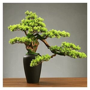 liangzishop Artificial Potted Plants 19 Inch Fake Plant Bonsai Tree, Artificial Plants Ceramic Potted Tree, Faux Bonsai Tree Decoration for Bathroom Farmhouse Indoor/Outdoor Artificial Tree
