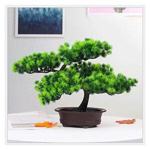 liangzishop Artificial Potted Plants 10 Inches Artificial Bonsai Tree,Plastic Faux Plant Decoration, Potted Fake House Plants, for Zen Garden Décor Artificial Tree
