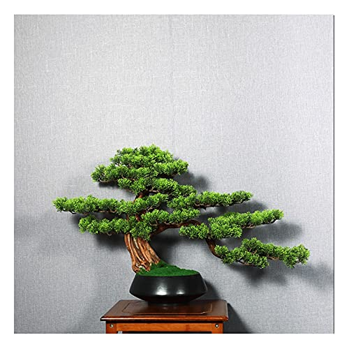 liangzishop Artificial Potted Plants 15 Inches Artificial Bonsai Pine Tree, Faux Potted Plants House Plants,fake Tree for Office Living Room Entrance Decoration Bonsai Crafts Gift Artificial Tree