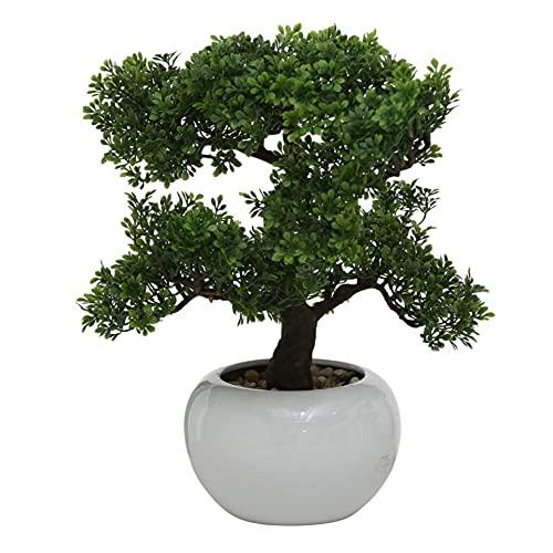 Boxwood Bonsai in Pot Emulate Simulation Decorative Artificial Tree Fake Plants Ornaments Home Decor H 33cm